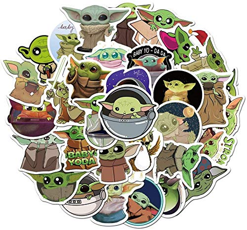 🥇 Baby Yoda Mandalorian Sticker Laptop Stickers 50