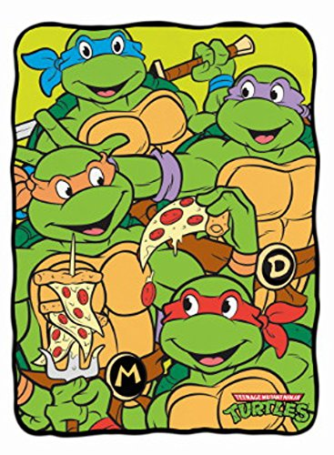 TMNT Teenage Mutant Ninja Turtles Pizza Pals Fleece Throw Blanket