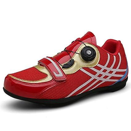 Zapatillas de Ciclismo para Hombre, Zapatillas de Ciclismo de Carretera Transpirables Zapatillas de Ciclismo de