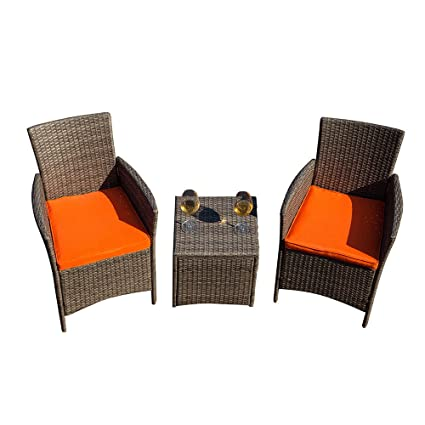 Sensational Amazon Com Transer 5 Piece Outdoor Patio Wicker Furniture Ibusinesslaw Wood Chair Design Ideas Ibusinesslaworg