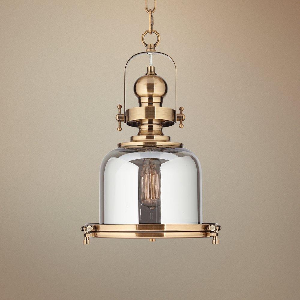 Elida antique brass 11 wide chrome glass mini pendant light elida antique brass 11 wide chrome glass mini pendant light amazon aloadofball Gallery
