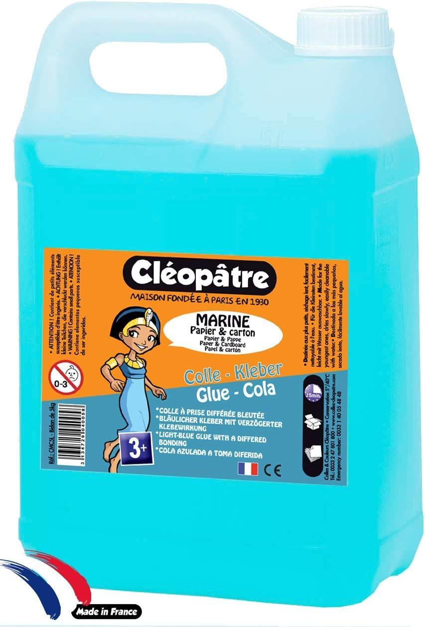 Cleopatre - CMC5L - Marine - Pegamento especial parvulario, 5 kg: Amazon.es: Oficina y papelería