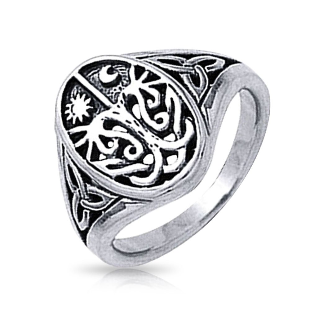 Sterling Silver 925 PRETTY SUN MOON DAY AND NIGHT BAND SILVER RINGS SIZES 5-10 Rings