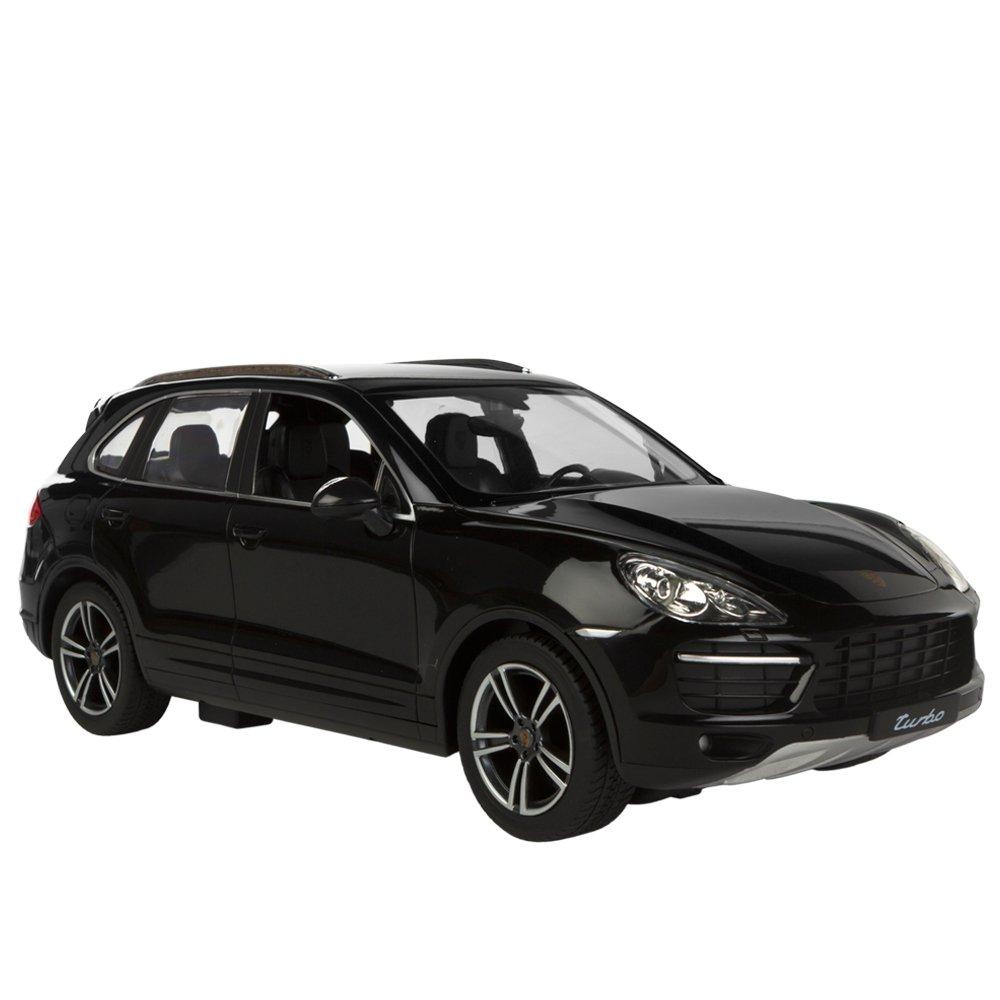 Rastar - Porsche Cayenne Turbo, coche teledirigido, escala 1:14, color negro (ColorBaby 85014): Amazon.es: Juguetes y juegos