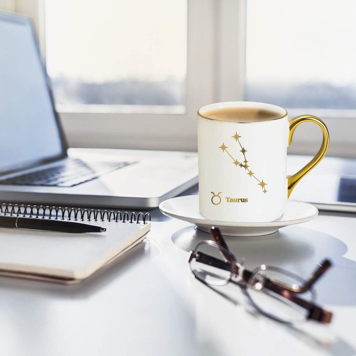 Amazon.com: Taza de café y té de porcelana con diseño de ...