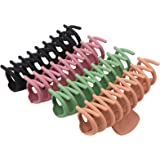 Large Hair Claw Clips for Thick Hair 4 PCS , Strong Hold Perfect for Women, Barrettes for Long Hair, Fashion Accessories for