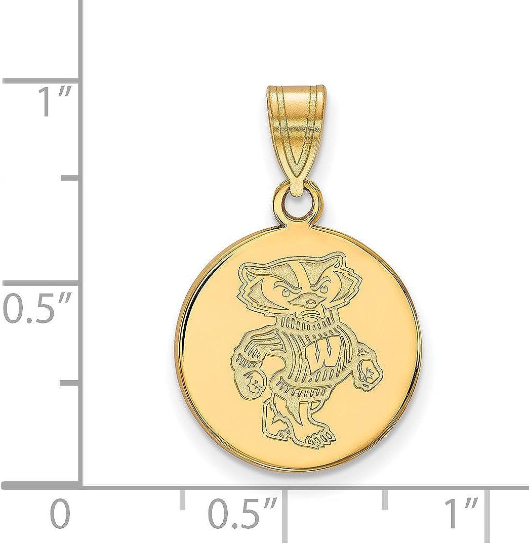 10k Yellow Gold Penn State University Nittany Lions Mascot Logo Pendant 14x18mm