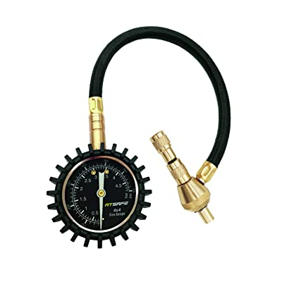 ATsafe 2 in 1 Professional Rapid Air Down Tire Deflator Pressure Gauge 75Psi with Special Chuck for 4X4 Large Offroad Tires on Jeep, Truck, ATV: Automotive [5Bkhe0815459]