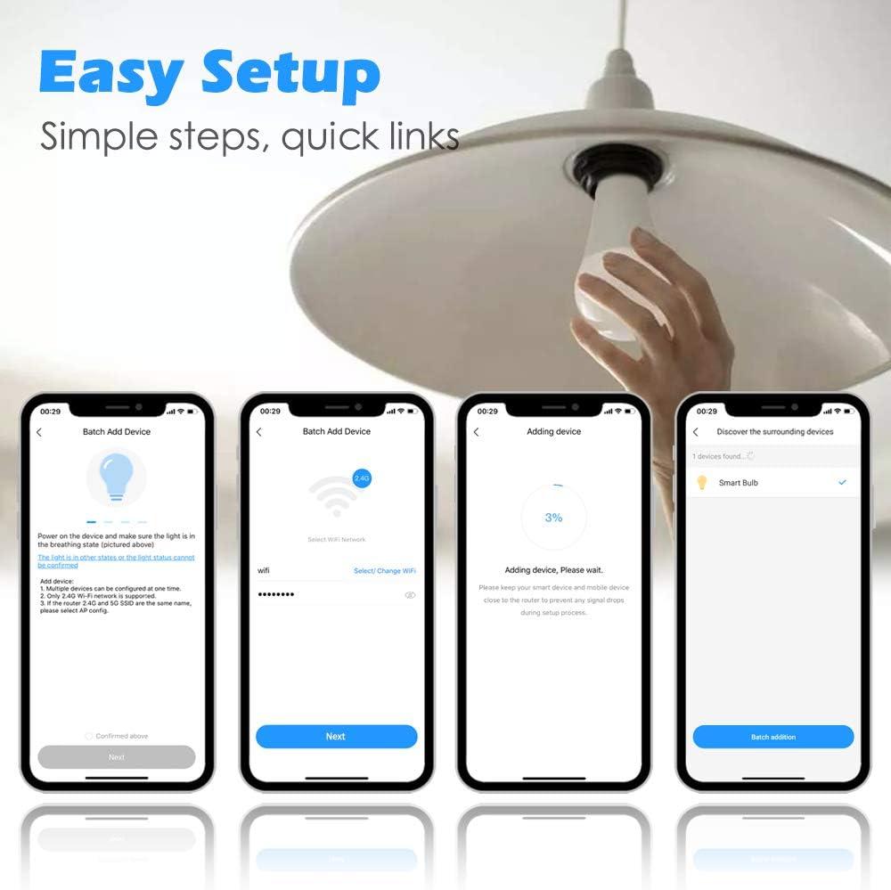 LightAurora 10W B22 LED Ampoule changeante avec t/él/écommande double commande de la m/émoire et interrupteur mural blanc --- 4/ème g/én/ération jeu de 1 RGB Timing Lot de 1 ba/ïonnette couleur 120 couleurs