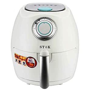 SToK Air Fryer 2.6 Litre 1350-Watt with Smart Rapid Air Technology & Double Layer Grill (White)
