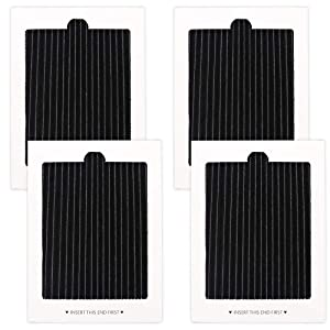 4 Pack Refrigerator Air Filters Replacement, replaces for SCPUREAIR2PK,EAFCBF PAULTRA 242047801, 242047804