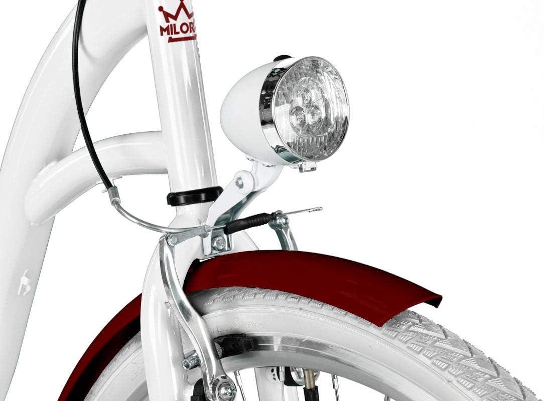 Bici de Paseo Milord Urbana C/ómoda Bicicleta de Ciudad 28 3 Velocidad