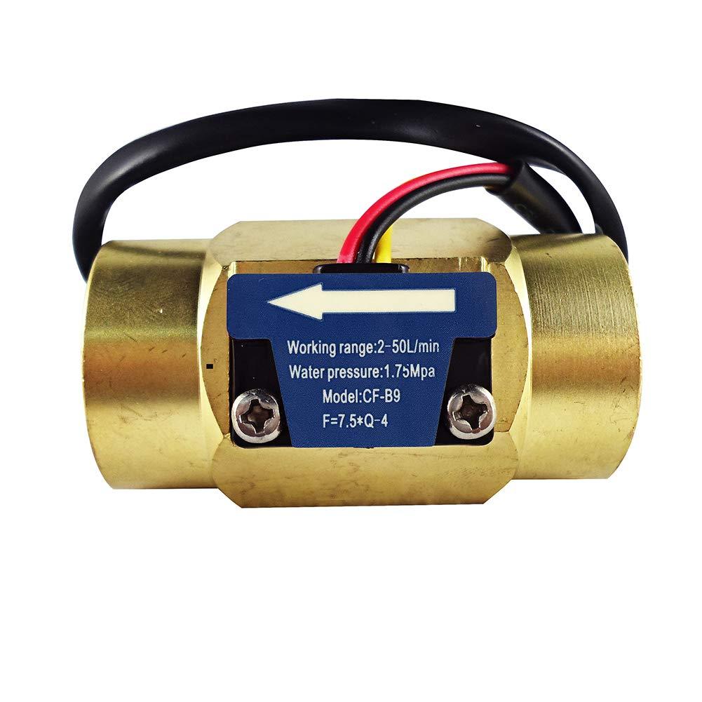 Digiten G3/4''Female Thread Water Flow Hall Sensor Switch Flowmeter Counter 2-50L/min