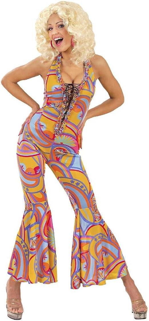 Disfraz Carnaval Mujer Años 70, vestido multicolor Funky Chick ...