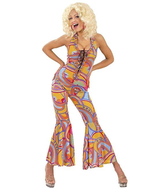 WIDMANN Disfraz Carnaval Mujer Años 70, Vestido Multicolor ...