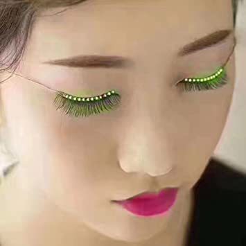 LED Eyelashes with Sound Control Waterproof Light F.Lashes Unisex Luminous Shining Charming Eyelid...