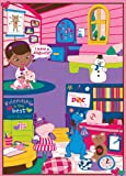 "Disney Junior Girls Toy Rug Carnival Doc McStuffins Toys Play Mat Bedding Game Rugs w/ Doctors Play Set, 32""x44"""