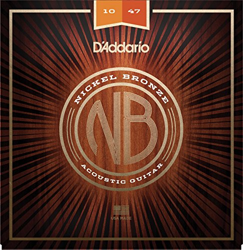 D'Addario NB1047 Nickel Bronze Acoustic Guitar Strings, Extra Light