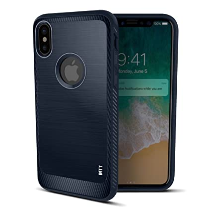 separation shoes 24223 e5b0b MTT Unbreakable Tough Armour Back Case Cover For Apple Iphone X (Navy)