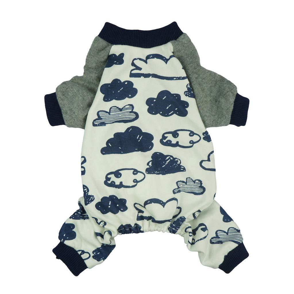 Fitwarm Pet Clothes for Dog Pajamas Shirts Cat Jumpsuit Cloud Cotton Large
