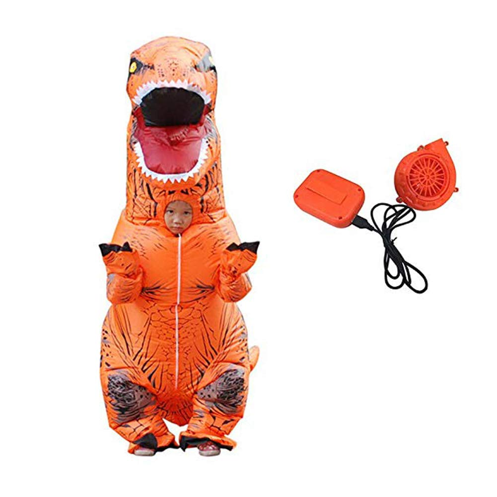 orange Kid Puruitai Dinosaur Inflatable Costumes Halloween Inflatable Kids Costume Party Cosplay Costume Adult Jumpsuit