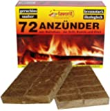 favorit 1828 Grill- und Kaminanzünder, 72-er Pack