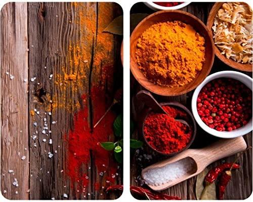 Wenko Juego cubre vitros de Cocina Universal Especias, Vidrio, Multicolor, 52x30x4.5 cm, 2 Unidades