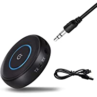 Bluetooth Transmitter and Receiver V5.0, Wireless Bluetooth Audio Adapter 3.5mm Stereo (aptX Low Latency) by Gecen…