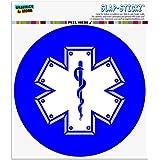 スター・オブ・ライフ医療健康EMT RN MD 自動車用車窓ロッカーサークルバンパーステッカー