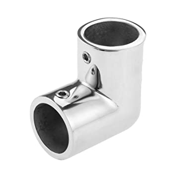 """Marine Boat Yacht Hand Rail Fitting 90 Degree 1"""" Elbow Stainless Steel"""