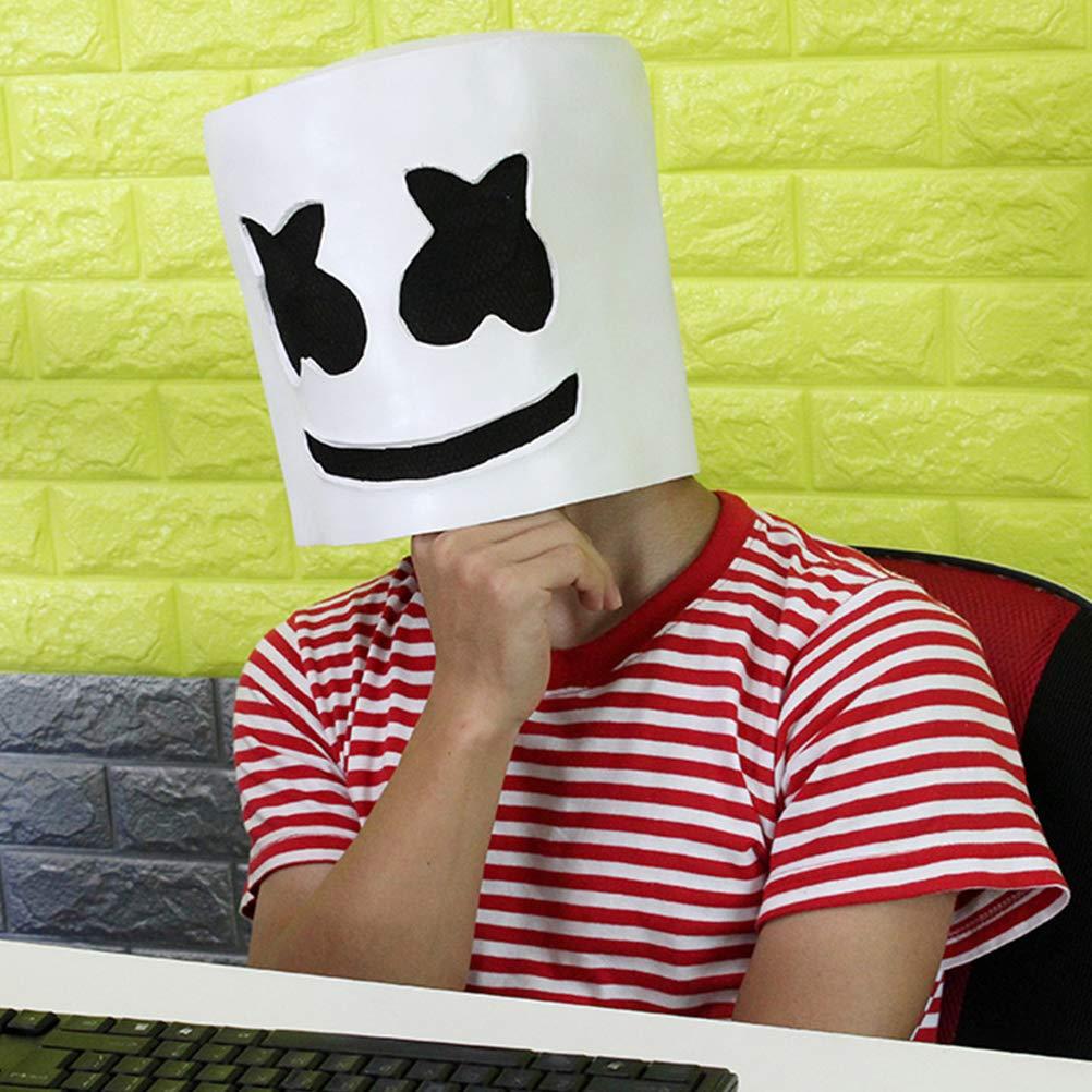 bestoyard marshmallow  BESTOYARD Maschera di DJ Maschera spaventosa di Halloween Maschera ...