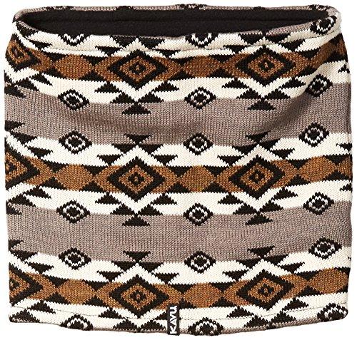 KAVU Women's Willa Neck Tube Scarf, Black/Tan, One Size Base Layer Neck Tube