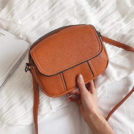 59e175e86217 Amazon.com: GloryMM Faux Leather Messenger Bag Square Shape Small ...
