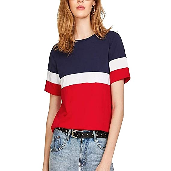 14141dcb02a64 Badmash Red and Blue Cotton Womens Tunic Short Top for Daily Casual Tops  for Under 500 300 Girls and Set Below 200 Tshirts Women Shirt  Amazon.in   Clothing ...