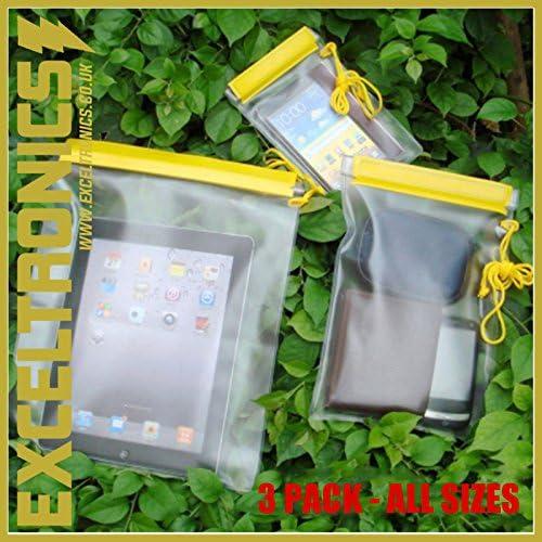 3 Pack Impermeable Bolsa de almacenamiento para teléfono móvil iPhone Tablet iPad dinero seco agua impermeable bolsa de viaje caso: Amazon.es: Electrónica