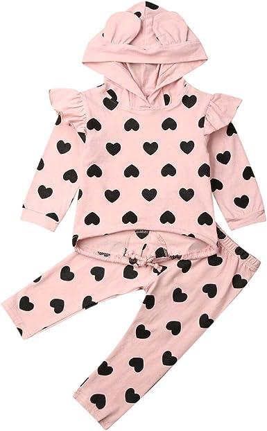 Fashion Toddler Kids Baby Girls Clothes Sweatshirt Tops Pant Leggings Outfit Dot