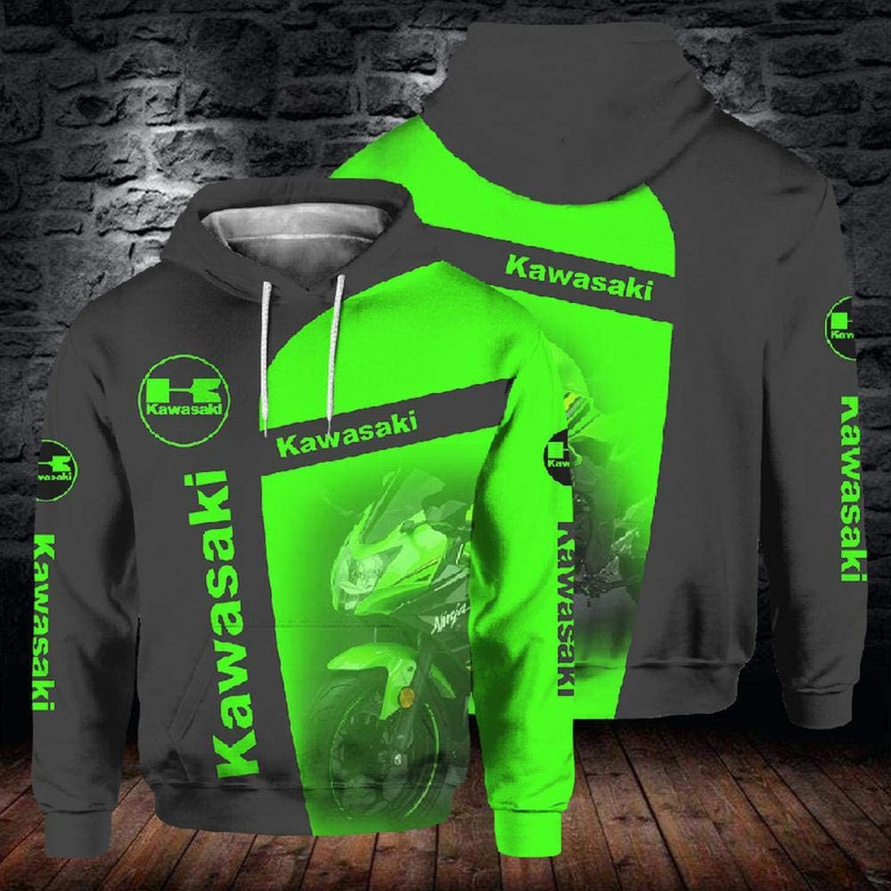 Geeignet f/ür Unisex A-XXXL XTD Hoodie Pullover 3D Sweatshirt Kawasaki Hooded Baseball Uniform Spring Casual Lang/ärmliges T-Shirt Jacke Sweater Coat Top