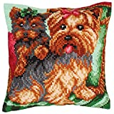RTO Dogs on the Armchair Collection D'Art Stamped Needlepoint Cushion Kit, 40 x 40cm