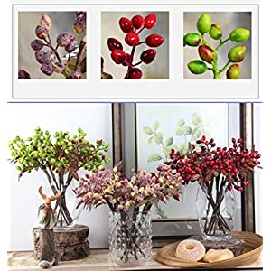 Htmeing 6pcs Artificial Berry Sprays Holiday Decorating Christmas Flower Arrangements 81