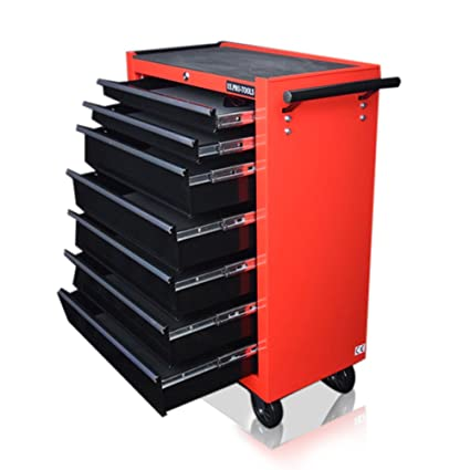 US PRO Tools- Caja de herramientas 7 cajones Armario con ruedas para herramientas con cajones