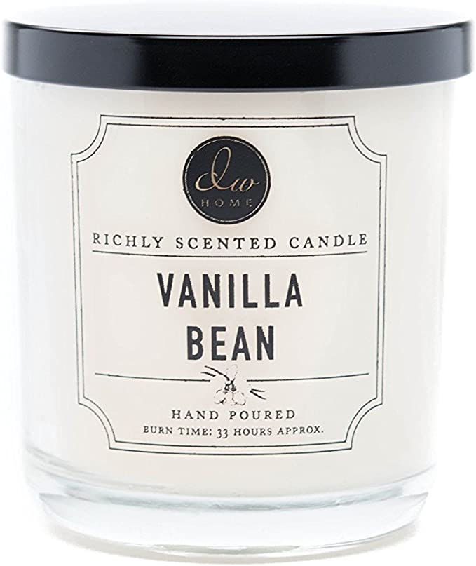 -- Vanilla Bean DW Home Decoware Richly Scented Candle Medium Single wick 9.69 oz