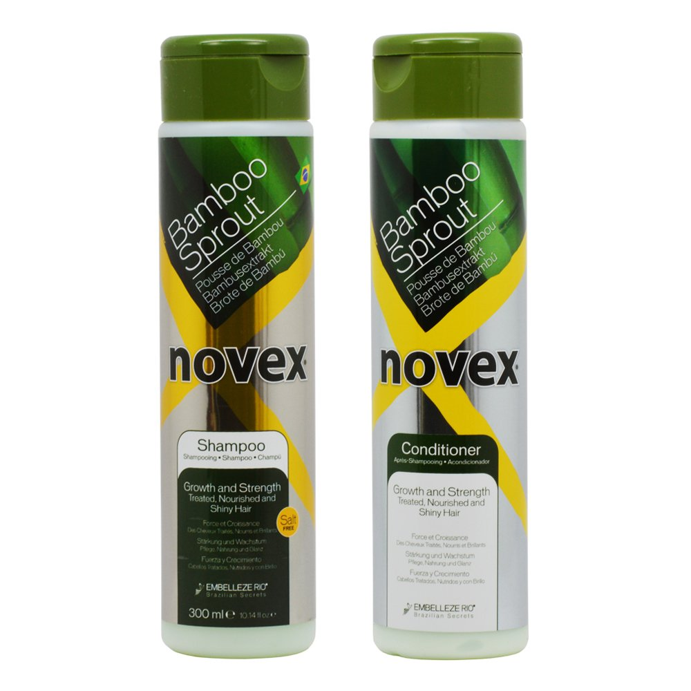 Novex Bamboo Bambu Sprout Shampoo & Conditioner 10.14 oz Duo