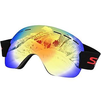 Anti Nebel, UV400Schutz, belüftete Ski und Snowboardbrille
