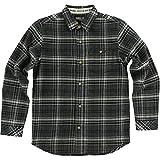 O'Neill Boys Redmond Flannel Button Up Long-Sleeve Shirt Medium Asphalt