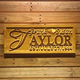 Cheap ADVPRO wpa0003 Personalized Last Name Rustic Home Décor Wood Engraving Custom Wedding Gift Couples Established Wooden Signs – Standard 23″ x 9.25″