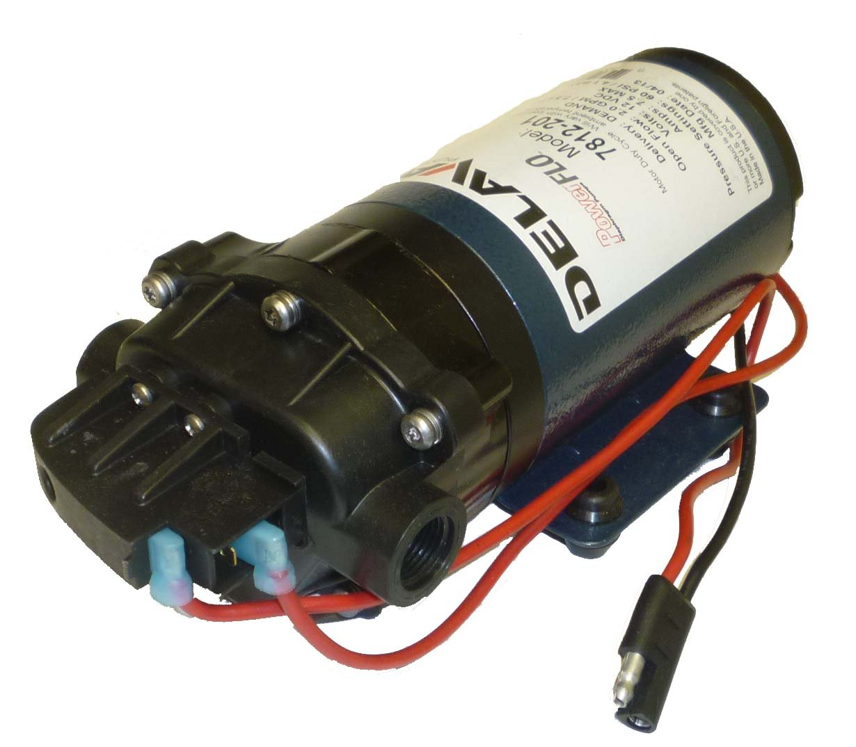 Delavan 7800 Series Diaphragm Pump 12V, 60 PSI, 2.0 GPM, Deman Pump - Power  Water Pumps - Amazon.com