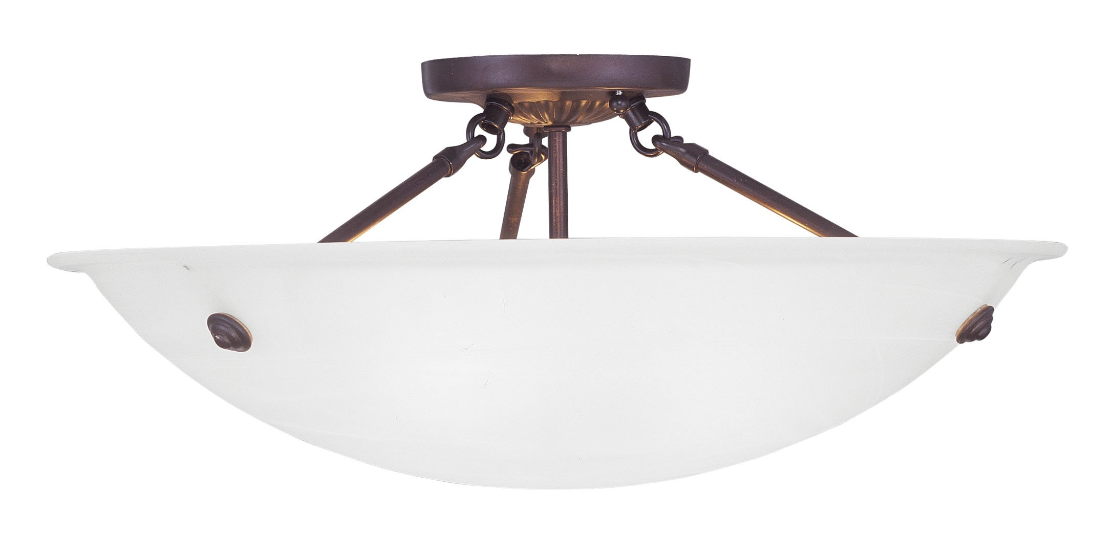 Livex Lighting 4274-07 Oasis 3-Light Ceiling Mount, Bronze