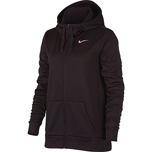 589a434b556c Nike Women s Therma Training Hoodie Full Zip Port Wine Pink Nebula Size  Small