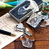 144PC FC6139 Love Locks Crystal Clear Key Chains Wedding Baby Shower Favors & Ac