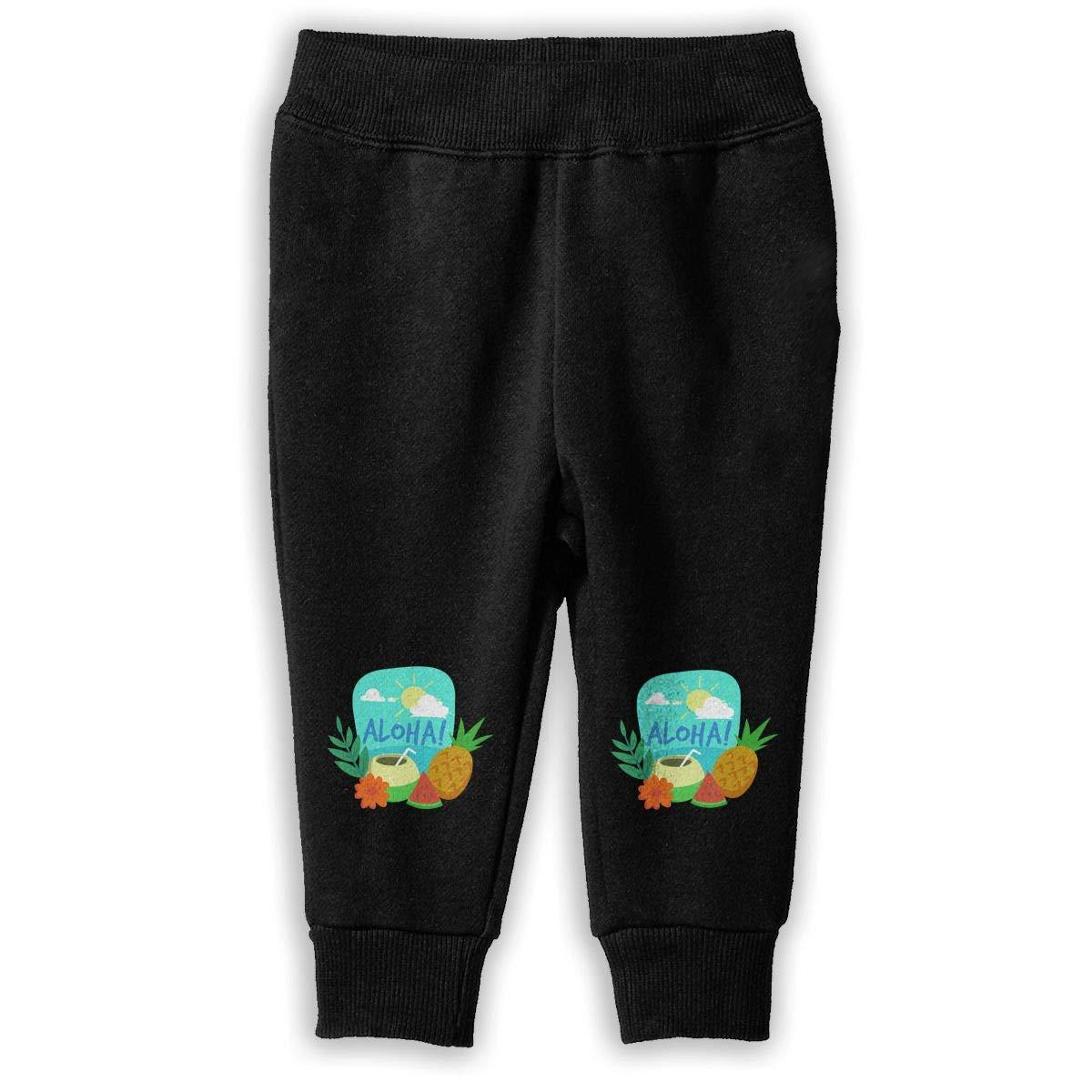 Baby Girls Athletic Pants Aloha Fruit Pineapples Sweatpants